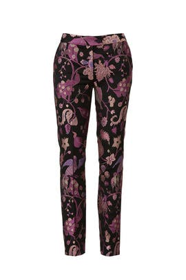 Floral Cigarette Pants by Christian Pellizzari