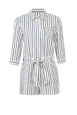 Striped Charlie Romper by Milly
