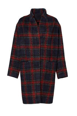 Addison Plaid Cocoon Coat by Ellie Mae