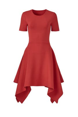 Rust Asymmetrical Knit Dress by TY-LR