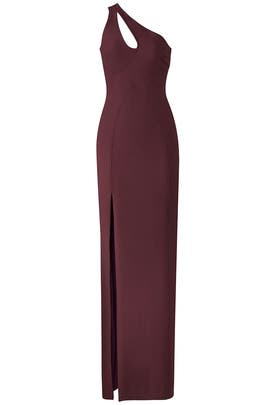 Maroon Gianna Gown by Cinq à Sept