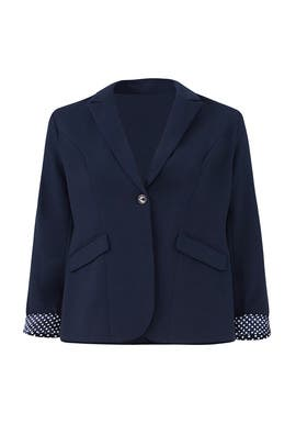 Spot Lining Blazer by City Chic