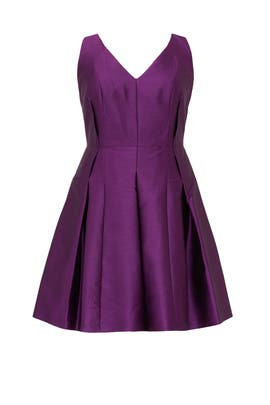 Purple Lily Dress by Carmen Marc Valvo