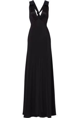 Black Deep V Alison Gown by Jill Jill Stuart