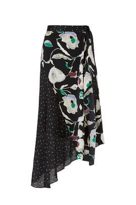 Matisse Floral Dot Skirt by Jason Wu Grey