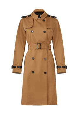 Dark Khaki Trench Coat by The Kooples