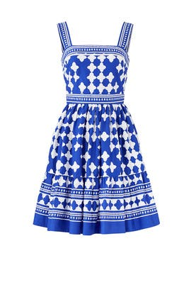 Blue Lantern Poplin Flounce Dress by kate spade new york