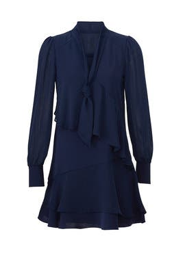 Navy Kenji Combo Dress by Parker