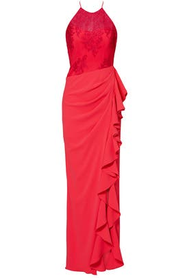 Cascading Ruffle Gown by Badgley Mischka