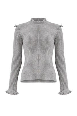 Grey Fitted Sweater by Derek Lam 10 Crosby
