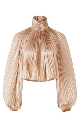 Foil Pleated Top by Opening Ceremony