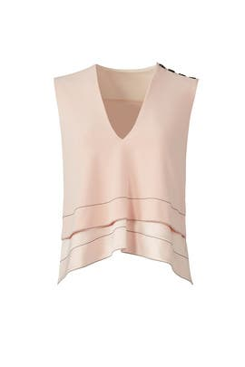 Pink Crepe Tiered Top by Derek Lam 10 Crosby