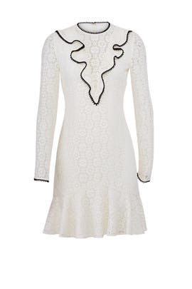 Ivory Lace Dress by ML Monique Lhuillier