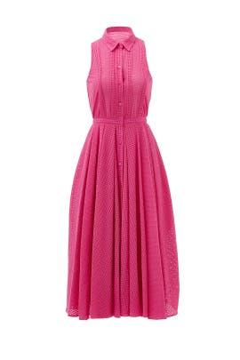 Sweet Pink Blossom Midi Shirtdress by Raoul