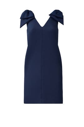 Navy Bow Dress by MSGM