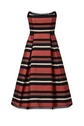 Strapless Stripe Dress by Nicholas