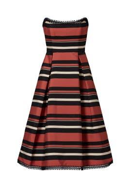 Strapless Stripe Dress by Nicholas