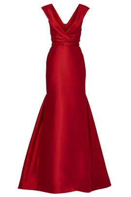 Crimson Shine Gown by pamella by pamella roland