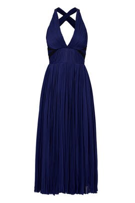 Navy Double Take Dress by J. Mendel