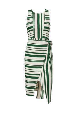 Green Striped Tie Dress by J.O.A.