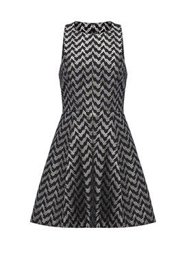 Silver Chevron Columbia Dress by LIKELY