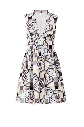 Amandine Mosaic Dress by Raoul