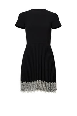 Black Pleated Tea Dress by RED Valentino
