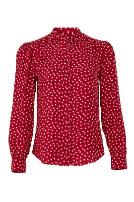 Long Sleeve Heart Top by Rebecca Taylor