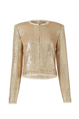 Sequined Gold Jacket by Rachel Zoe