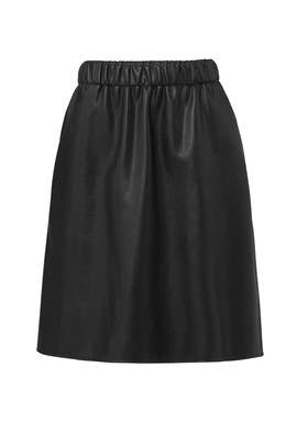 Black Luxe Faux Skirt by Slate & Willow