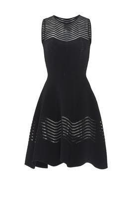Black Sheer Zag Dress by Antonino Valenti