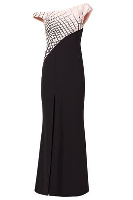 Rosewater Wave Gown by Bibhu Mohapatra