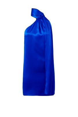 Blue One Shoulder Dress by Genny