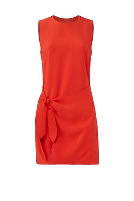Red Riel Dress by Line + Dot