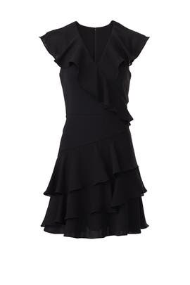 Black Ruffle Combo Dress by Parker