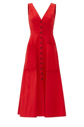 Red Zoey Dress by SALONI