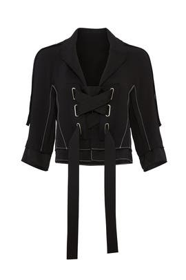 Laced Cropped Jacket by Victor Alfaro