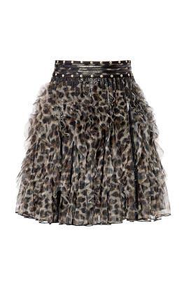 Wild Ninja Ruffle Skirt by Just Cavalli