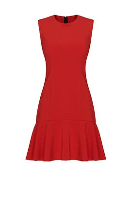 Red Tiered Ruffle Dress by Jason Wu