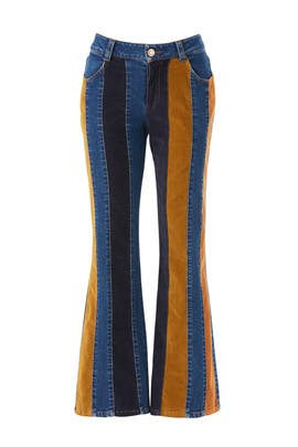 Patchwork Striped Jeans by See by Chloe
