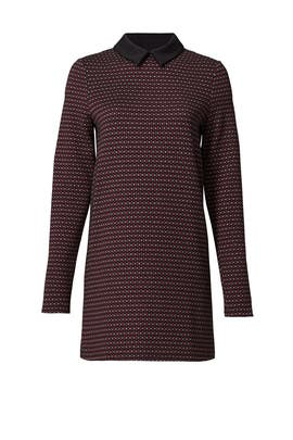 Bordeaux High Collar Shift by twenty