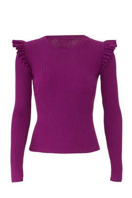 Sloann Ribbed Pullover by Cinq à Sept