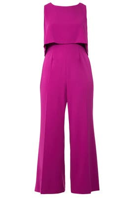 Purple Aria Popover Jumpsuit by Jay Godfrey