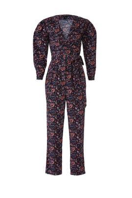 Floral Toile Wrap Jumpsuit by La Vie Rebecca Taylor