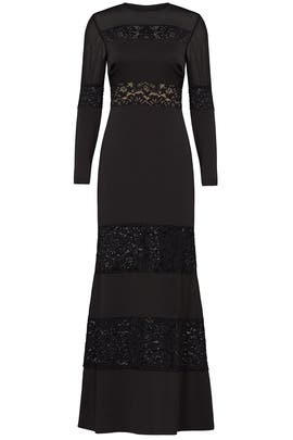 Black Venice Gown by Nicole Miller