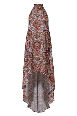 Red Paisley Cyrus Dress by FINDERS KEEPERS