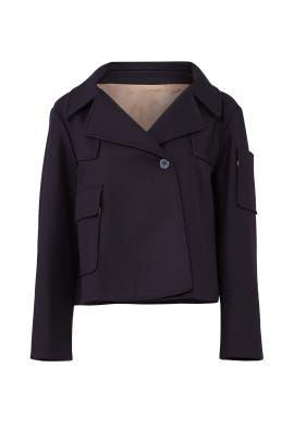 Navy Cropped Coat by Jil Sander Navy