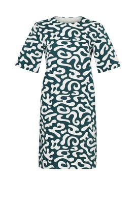 Emerald Markers Print Dress by Marni