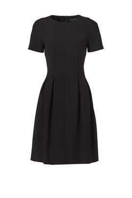 Black Crepe Vogue Dress by Pink Tartan