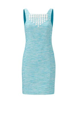 Azure Beaded Shift Dress by Trina Turk